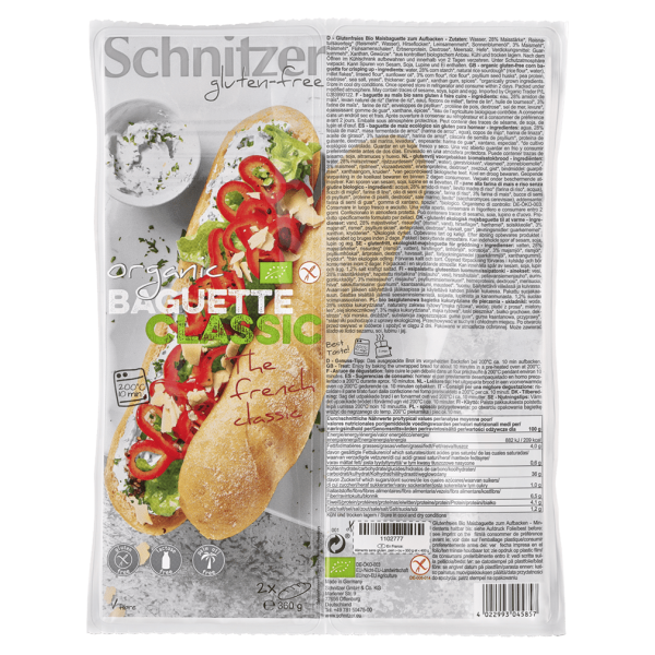 Schnitzer Bio Baguette Classic 2 Stk.