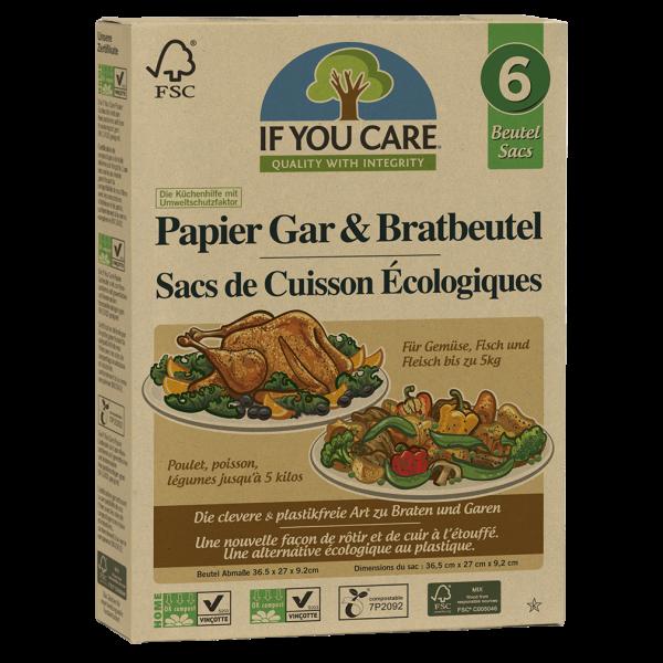 If You Care Papier Gar & Bratbeutel, 6 Stück
