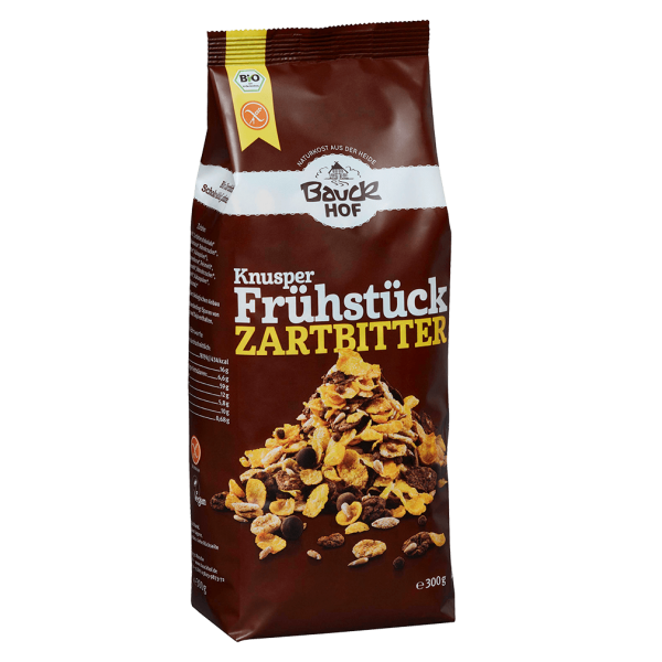 Bauckhof  Bio Knusper Frühstück Zartbitter -glutenfrei-