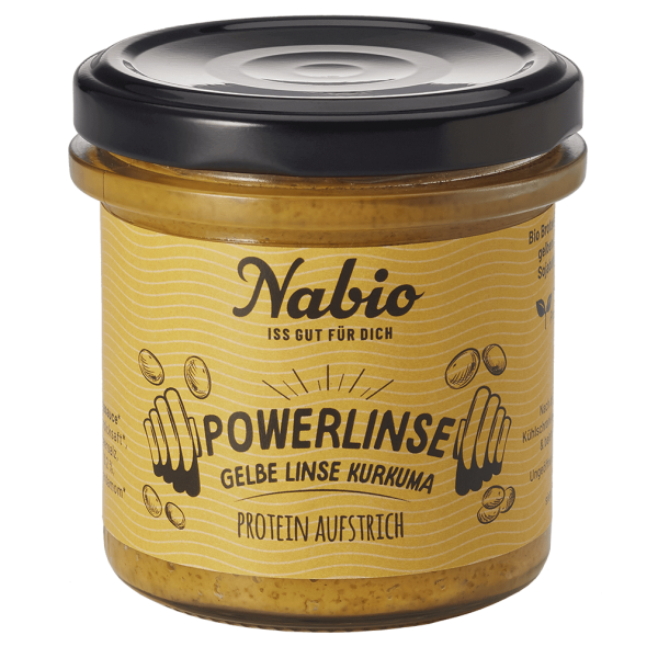 NAbio Bio Protein-Aufstrich Powerlinse Gelb