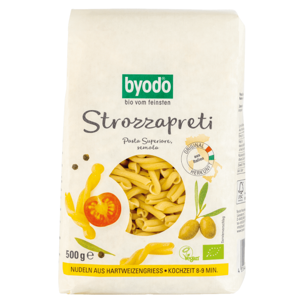 byodo Bio Strozzapreti 500 gr Packung -hell-