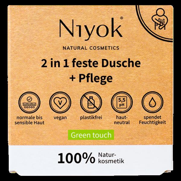 Niyok 2in1 feste Dusche & Pflege Green Touch