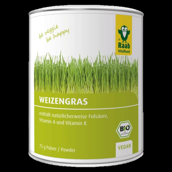 Raab Vitalfood Bio Weizengraspulver, 75g