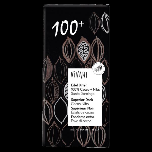 Vivani Bio Edel Bitter 100% Cacao