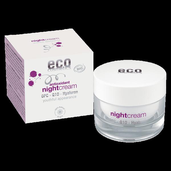 Eco Cosmetics Nachtcreme Hyaluron mit OPC, Q10