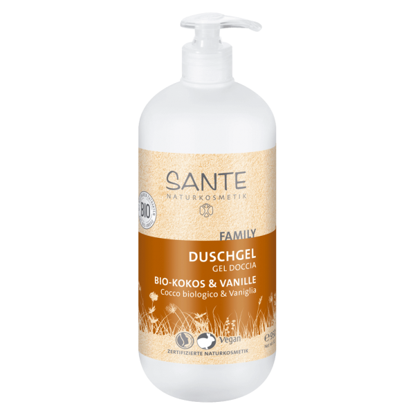 Sante Naturkosmetik Family Duschgel Bio-Kokos & Vanille, 950 ml