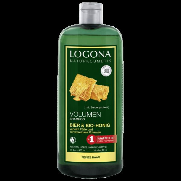 Logona Volumen Shampoo Bier & Bio-Honig, 500ml