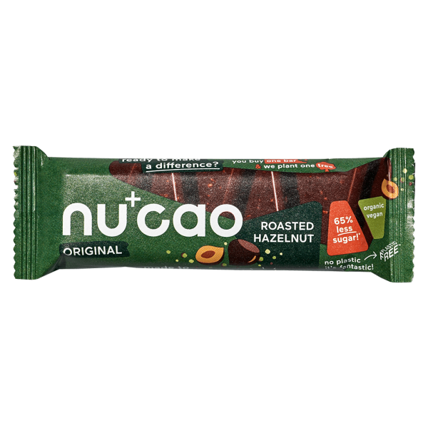 Nucao Bio Haselnuss Riegel mit Hanfsamen