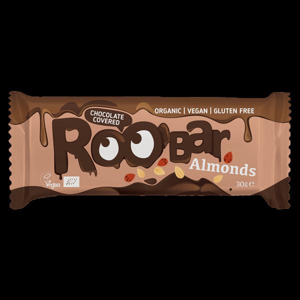 Roobar Bio Mandelriegel umhüllt mit Schokolade