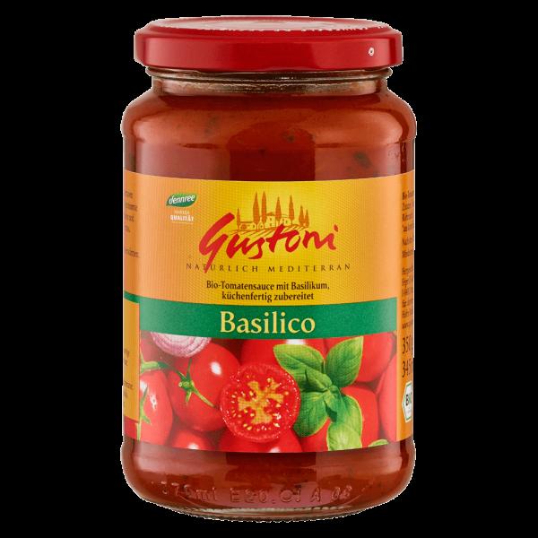 Gustoni Bio Tomatensauce mit Basilikum
