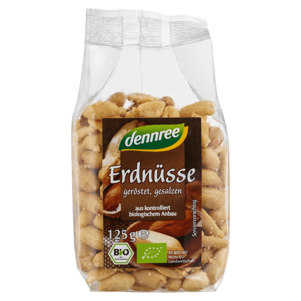 dennree Bio Erdnüsse geröstet & gesalzen