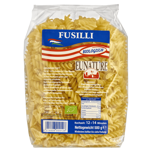 Eunature Bio Fusilli hell