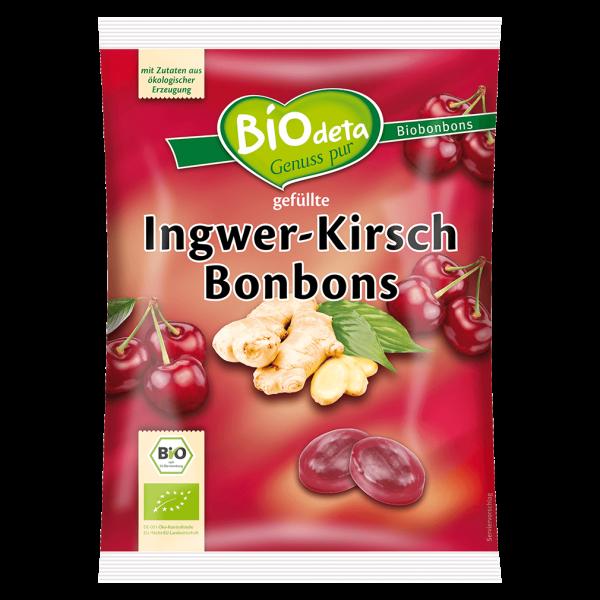 Biodeta Bio Ingwer-Kirsch Bonbons