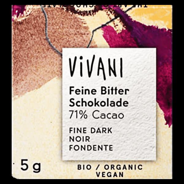 Vivani Bio Feine Bitter Naps 71% Cacao 200x5g