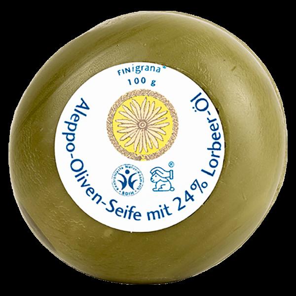 Finigrana Aleppo Oliven Seife mit 24 % Lorbeeröl