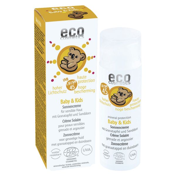 Eco Cosmetics Baby & Kids Sonnencreme LSF 45, 50 ml Spender