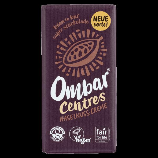 OMBAR Bio Raw Haselnuss Schokolade