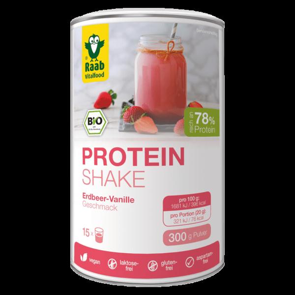 Raab Vitalfood Bio Protein Shake Erdbeer-Vanille