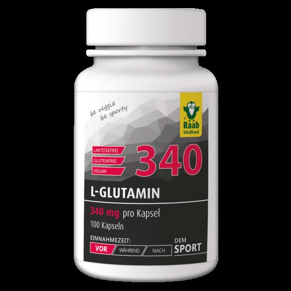 Raab Vitalfood L-Glutamin, 100 Kapseln
