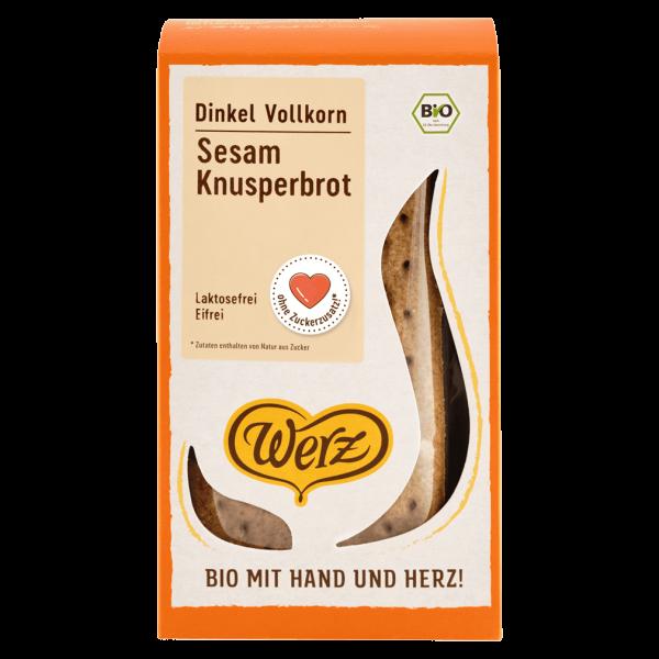 Werz Bio Sesam Knusperbrot Dinkel Vollkorn