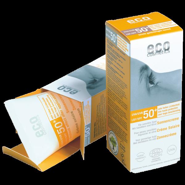 Eco Cosmetics Sonnencreme LSF50+ leicht getönt