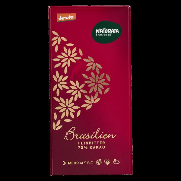 Naturata Bio Feinbitter Schokolade Brasilien 70%