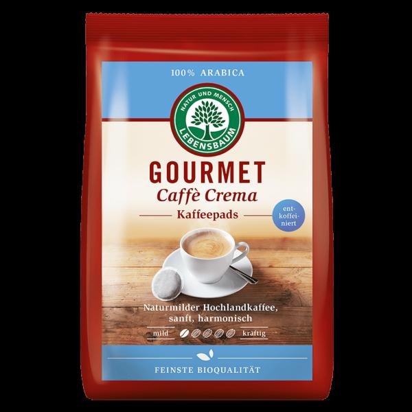 Lebensbaum Bio Gourmet Caffe Crema entkoffeiniert 18 Pads