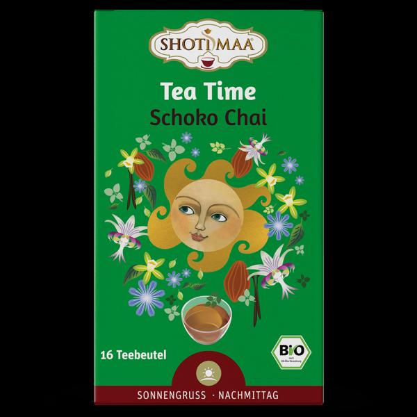 Shotimaa Bio Tea Time - Schoko Chai Tee, 16 Btl.