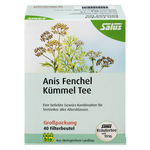 Salus Bio Anis Fenchel Kümmel Tee, 40Btl