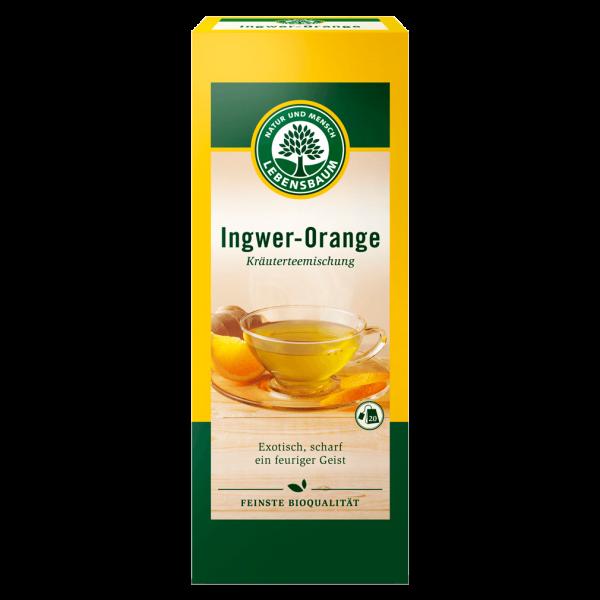 Lebensbaum Bio Ingwer Orange Kräutertee, 20Btl.