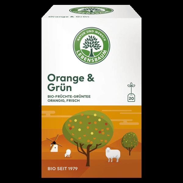 Lebensbaum Bio Orange & Grün Tee, 30g