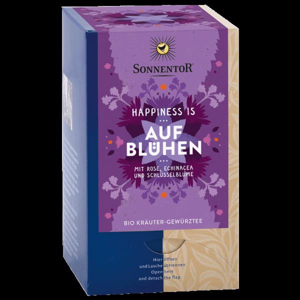 Sonnentor Bio Happiness is … Aufblühen Tee, 18Btl.