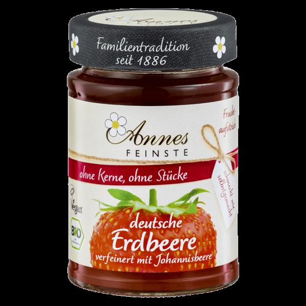 Annes Feinste Bio Erdbeer-Johannisbeer Fruchtaufstrich