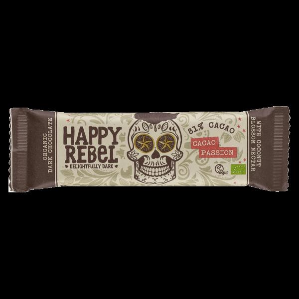 Happy Rebel Bio Schokoriegel Cacao Passion