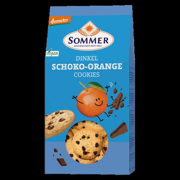 Sommer Bio Dinkel Schoko-Orange Cookies