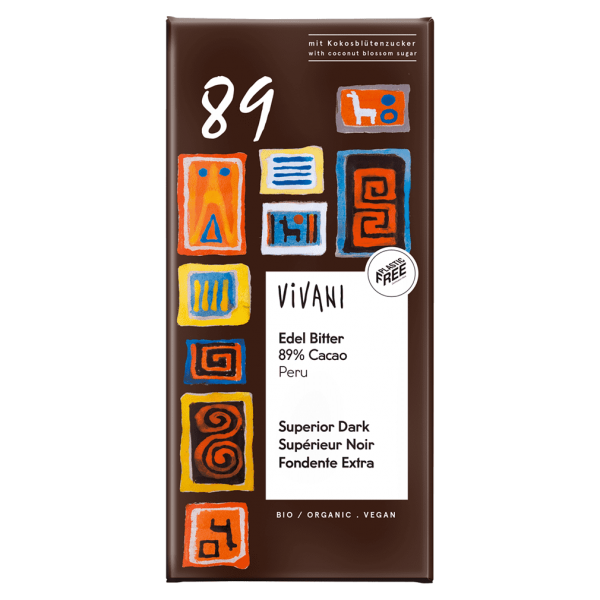Vivani Bio Edel Bitter 89% Cacao