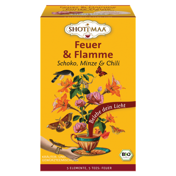 Shotimaa Bio Feuer & Flamme Schoko, Minze & Chili Tee