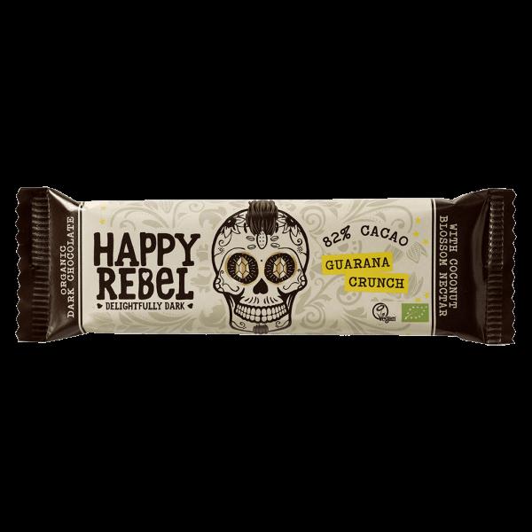 Happy Rebel Bio Schokoriegel Guarana Crunch