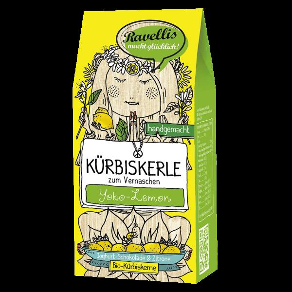Ravellis Bio Kürbiskerle Joghurt-Schokolade & Zitrone