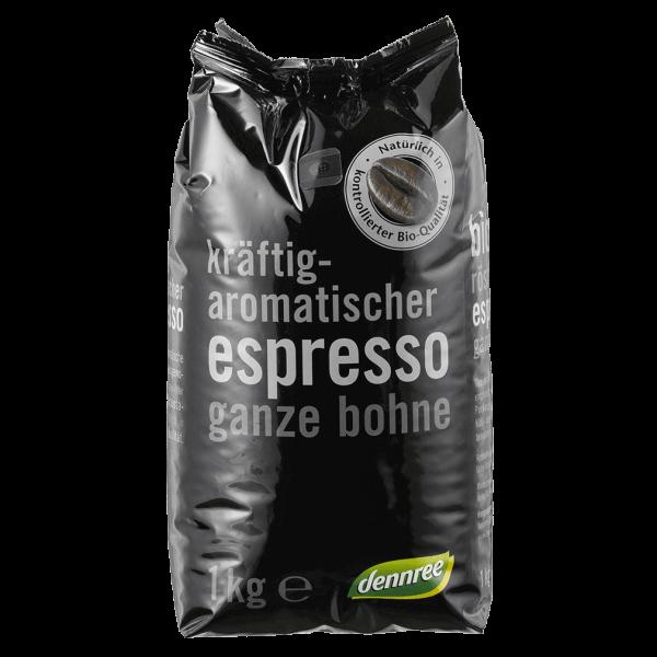 dennree Bio Espresso ganze Bohne