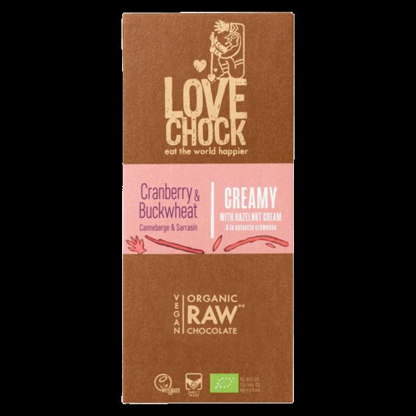 Bio Raw Creamy Cranberry-Buchweizen Schokolade
