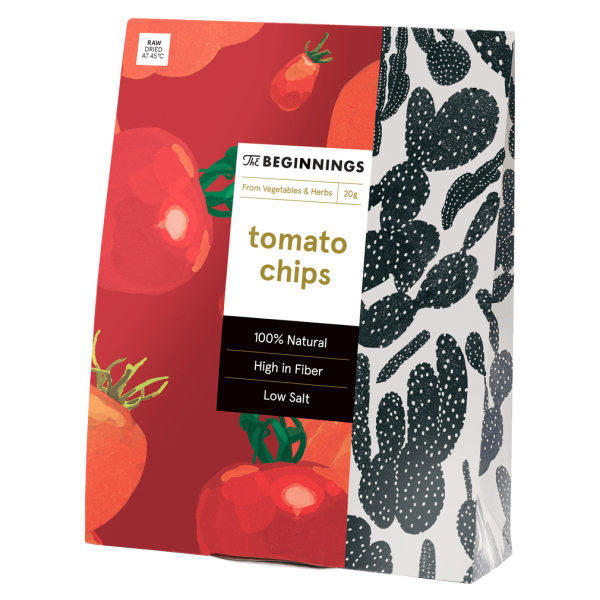 Tomaten-Basilikum Chips