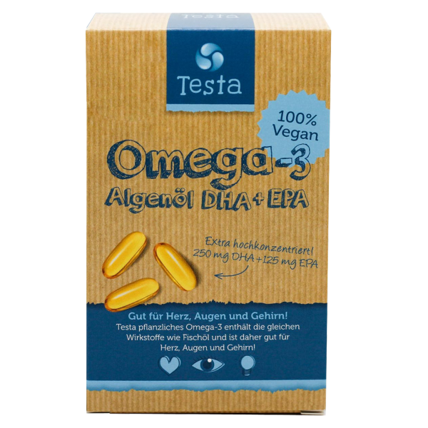 Algenöl Omega-3 DHA + EPA Kapseln, 45Stk