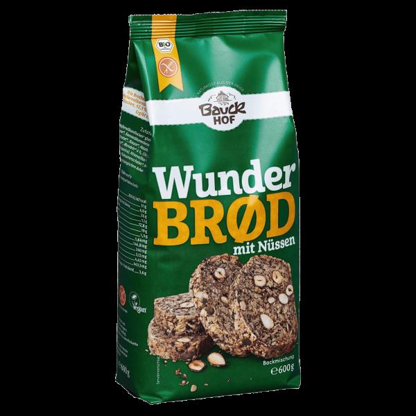 Bauckhof  Bio Wunderbrød mit Nüssen glutenfrei, 600g