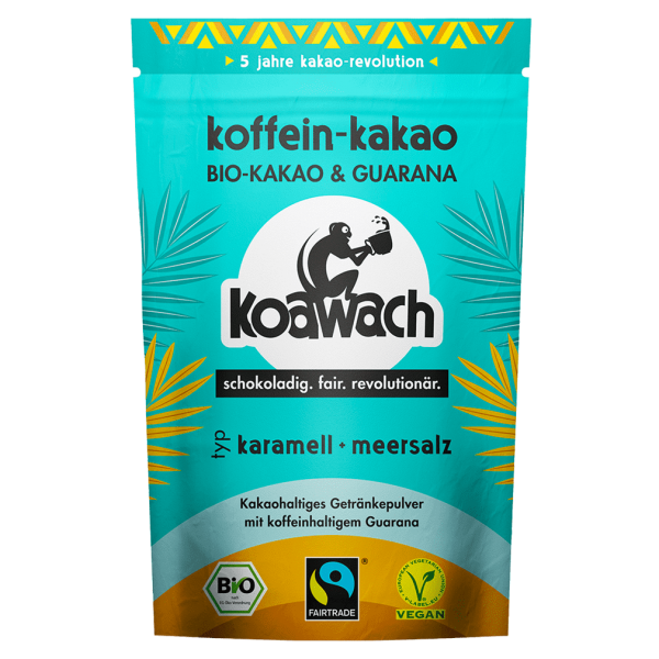 koawach Bio Trinkschokolade Karamell + Meersalz