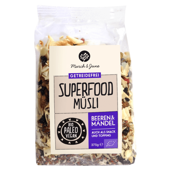 Bio Superfood Müsli Beeren & Mandel