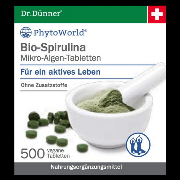 Dr.Dünner Bio-Spirulina Mikro-Algen-Tabletten, 500 Stück