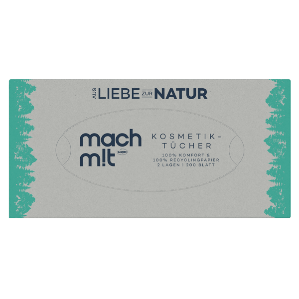 Wepa Mach mit Kosmetiktücher Box, 200 St Packung