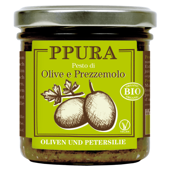 Bio Pesto Oliven und Petersilie
