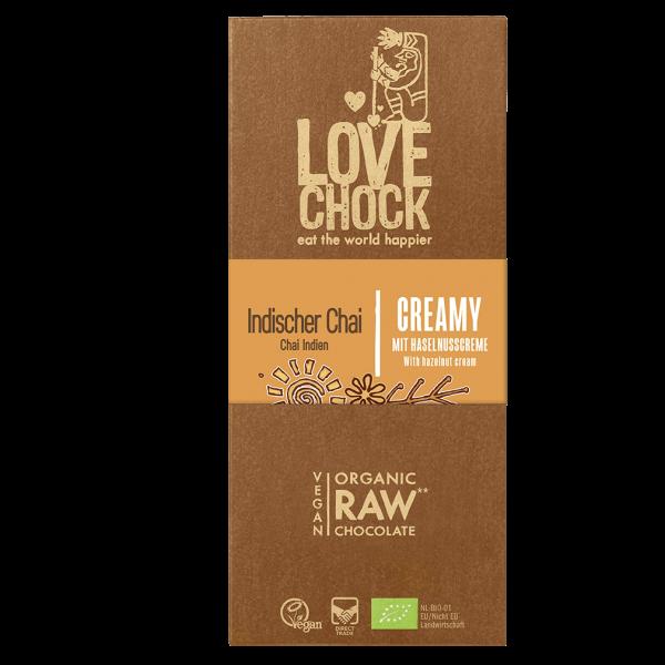 LOVECHOCK Bio Creamy Indischer Chai RAW Chocolate Rohschokolade